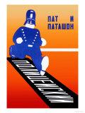 Running Policeman Lámina giclée prémium por  Stenberg Brothers
