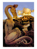 The Reluctant Dragon Plakater af Maxfield Parrish
