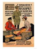 Demand Saratov Shag Tobacco Poster