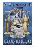 New York Blue, Keep It Blue Print by Richard Kelly