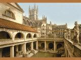 Roman Baths and Abbey at Bath Foto
