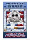 Make It Blue, Break the Monopoly Art by Richard Kelly