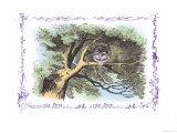 Alice in Wonderland: The Cheshire Cat Stampe di Tenniel, John