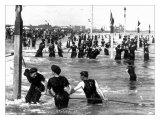 Coney Island Surf Crowd Photo by William H. Rau