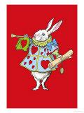 Alice in Wonderland: Horn and Hearts Poster di Tenniel, John