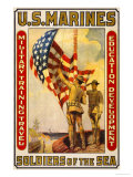 Soldiers of the Sea, Military Training Travel Education Development Posters by Sidney Riesenberg