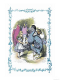 Alice in Wonderland: Dodo Gives Alice a Thimble Stampe di Tenniel, John