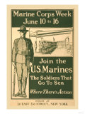 Marine Corps Week, June 10 to 16, Join the U.S. Marines Poster