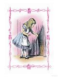 Alice in Wonderland: Alice Tries the Golden Key Poster por John Tenniel