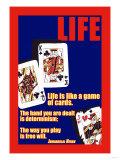 Livet, på engelsk Plakat