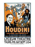 Do Spirits Return Houdini Says No Poster