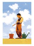 Spring Planting Premium gicléedruk van Maxfield Parrish