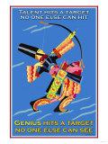 Genius Hits a Target Plakater