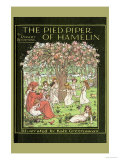The Pied Piper of Hamelin Plakater av Kate Greenaway