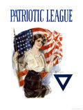 Patriotic League Premium Giclee-trykk av Howard Chandler Christy
