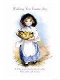 Wishing You Easter Joy Print by Ellen H. Clapsaddle
