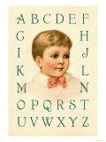 Big Boy's Alphabet Prints by Ida Waugh