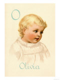 O for Olivia Prints by Ida Waugh