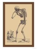 Bending Skeleton Kunstdruck von Andreas Vesalius