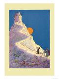 Castle on a Mountain Poster av John R. Neill