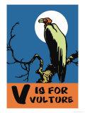 V is for Vulture Julisteet tekijänä Charles Buckles Falls
