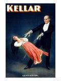 Kellar: Levitation Kunstdrucke