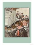 Graduation Day Póster por Harrison Fisher