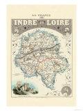 Indre-Et-Loire Poster von Alexandre Vuillemin