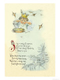 Sing a Song of Sixpence Print by Maud Humphrey