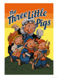 The Three Little Pigs Poster af Milo Winter