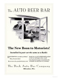 The Auto Beer Bar Poster by  Tousey