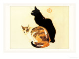 Les Chats Posters by Théophile Alexandre Steinlen