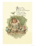 Mistress Mary Quite Contrary Art by Maud Humphrey