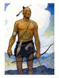 Le Dernier des Mohicans Affiches par Newell Convers Wyeth