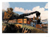 Steam Locomotive Plakater av Currier & Ives,