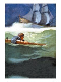 Wreck of the Covenant Posters af Newell Convers Wyeth