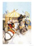 La lance de sire Mador Affiche par Newell Convers Wyeth