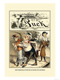 Puck Magazine: The Original Political Dude Out-Duded Poster di Frederick Burr Opper