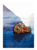 Race Across the Lake Art by Newell Convers Wyeth