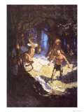 Inncus Slays the Deer Plakater af Newell Convers Wyeth