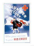 Volunteer for Victory: Offer Your Services to Your Red Cross Pôsters por Toni Frissell