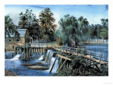 Mill-Dam Pôsters por  Currier & Ives