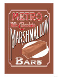 Metro Milk Chocolate Marshmallow Bars Poster