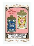 Sanitol Talcum Powder and Floressence Violette Talc ポスター