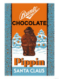 Chocolate Pippin Santa Claus Affiches