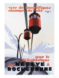 Skiing and Tram Plakater af Paul Ordner