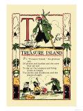 T for Treasure Island Posters tekijänä Tony Sarge