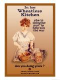 In Her Wheatless Kitchen Premium Giclee-trykk av Howard Chandler Christy