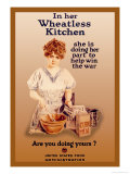 In Her Wheatless Kitchen Posters por Howard Chandler Christy