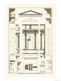 Pediment of Temple at Assisi Posters by J. Buhlmann